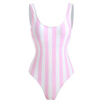 """<P>High Cut Striped One Piece Swimwear</P><I Class=""""Icon Down Js Tap Up Down""""></I> by Dress Lily"""