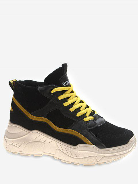 Mid Top Platform Sneakers - YELLOW EU 40