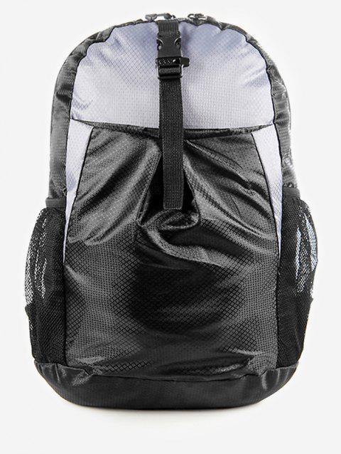 Snap Buckle Backpack - GRAY