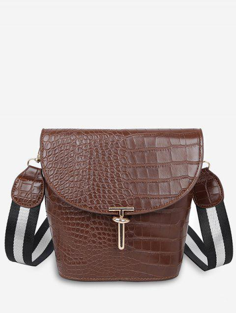04a63160b4 2019 Textured Decoration Crossbody Bag In LIGHT BROWN