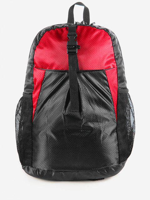 Snap Buckle Backpack - ROSSO RED
