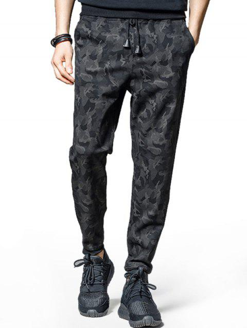 Camouflage Pattern Casual Jogger Pants - BLACK XS