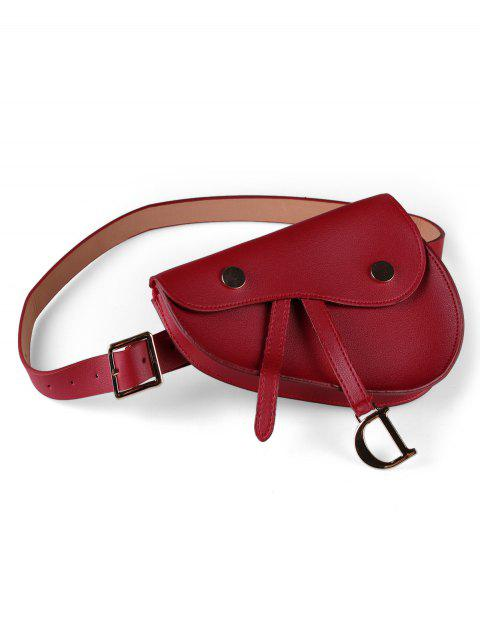 Buckle Decoration Fanny Pack Belt - RED