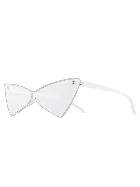 Kitty Eyes Bowknot Shape Rimless Sunglasses - TRANSPARENT