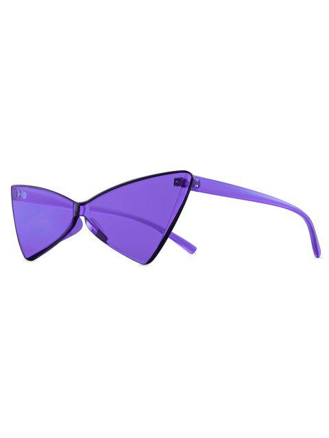 Kitty Eyes Bowknot Shape Rimless Sunglasses - LOVELY PURPLE