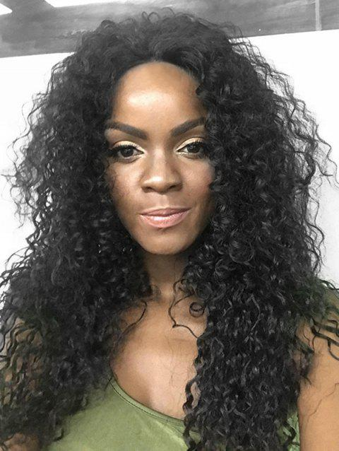 Long Synthetic Curly Lace Front Wig - BLACK 26INCH