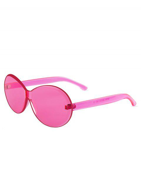 Chic Round Design Frameless Sunglasses - PINK