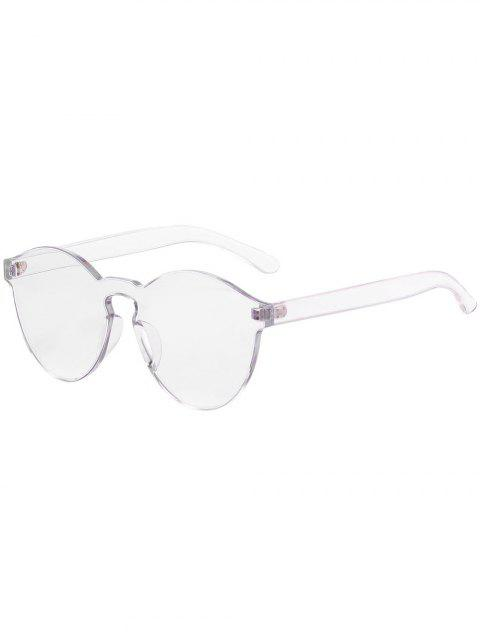 Chic Transparent Frameless Sunglasses - TRANSPARENT