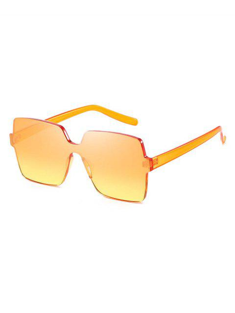Square Design Frameless Sunglasses - multicolor B
