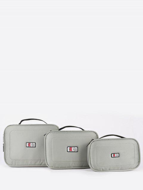 3Pcs Waterproof Digital Accessories Storage Bag - PLATINUM