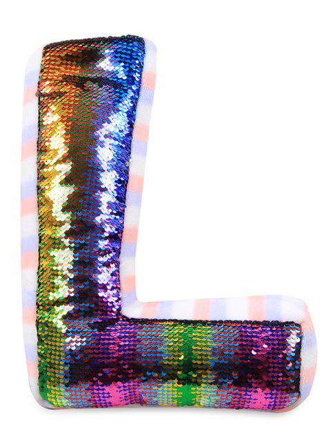 Mermaid Sequin Throw Pillow - multicolor A