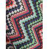 High Slit Zig Zag Print Skirt - multicolor L