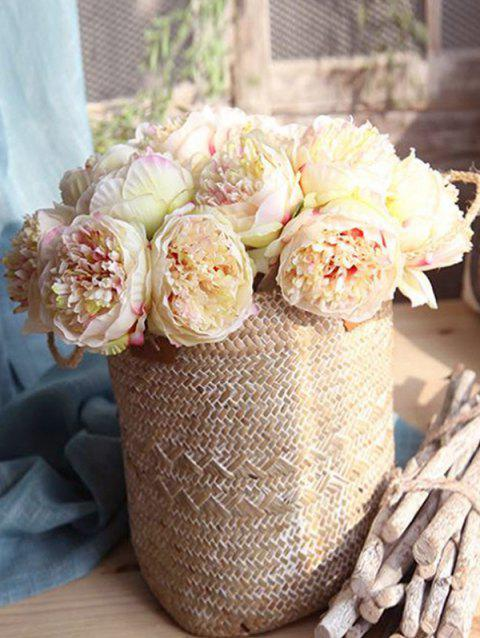 5 Pcs Home Decoration Artificial Peony Flowers - BLANCHED ALMOND