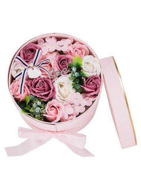 Valentines Day Gift Soap Flowers In A Box - PINK