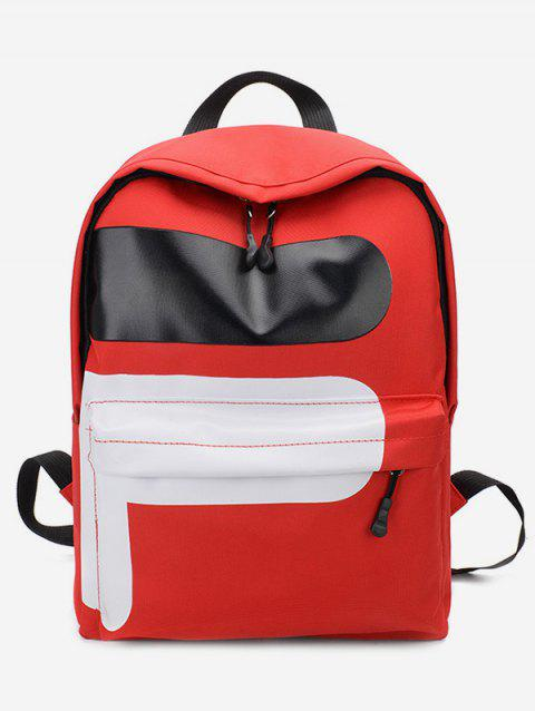 Nylon Outdoors Backpack - LAVA RED