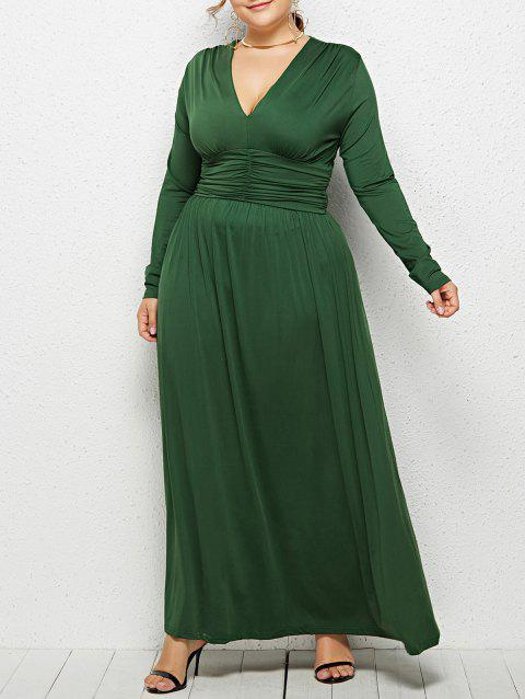 LIMITED OFFER] 2019 Plus Size Plunge Empire Waist Maxi Dress In ...
