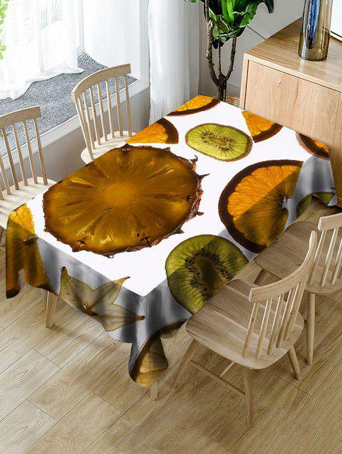 Fruits Slices Print Waterproof Table Cloth - CARAMEL W54 X L72 INCH