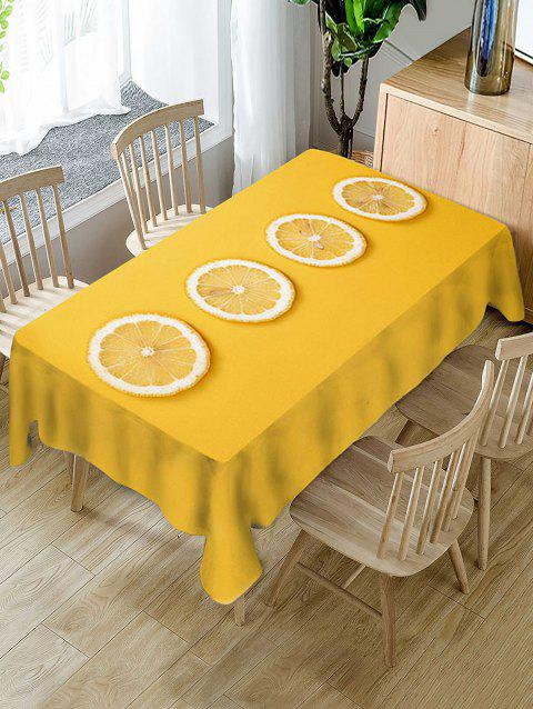 Lemon Slices Print Decorative Table Cloth - YELLOW W60 X L120 INCH