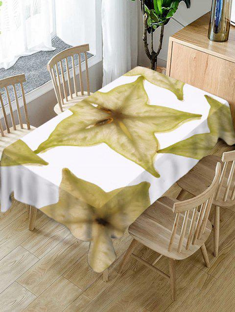 Carambola Slices Print Waterproof Table Cloth - WHITE W60 X L102 INCH