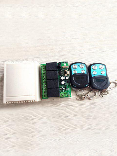 433 MHz 2 Pcs RF Universal Wireless Remote Switch Control and Relay Receiver Module - BLACK