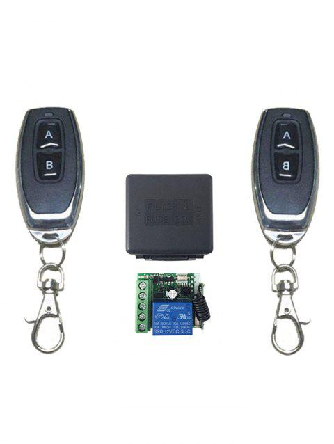 2 Pcs RF Universal Wireless Remote Switch Control and Relay Receiver Module - BLACK