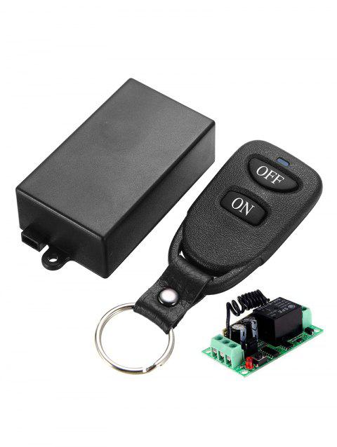 433 MHz Wireless Remote Control and Relay Receiver Module - BLACK
