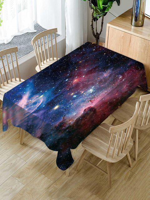 Nappe de Table Imperméable à Imprimé Galaxie - multicolor W54 X L54 INCH