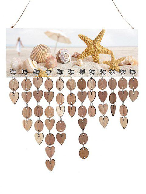 Starfish seashell Wooden Reminder Board - BURLYWOOD