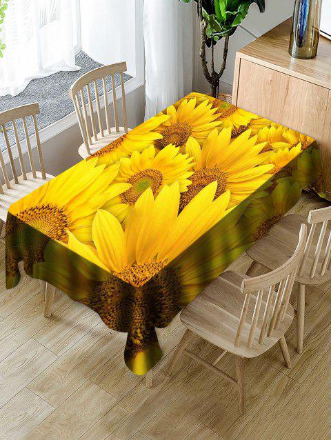 Sunflowers Print Waterproof Decorations Table Cloth - multicolor W54 X L54 INCH