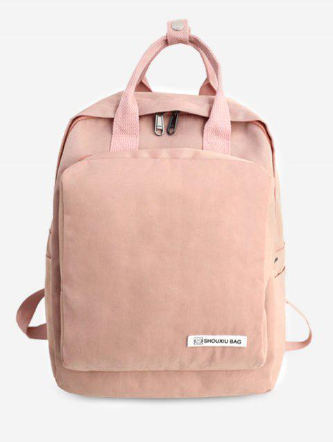 Nylon Chic Style Student Backpack - ORANGE PINK