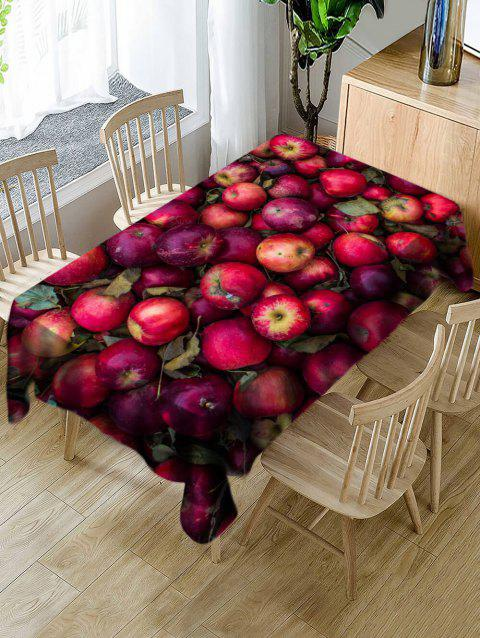Waterproof Apples Print Table Cloth - RED W60 X L84 INCH