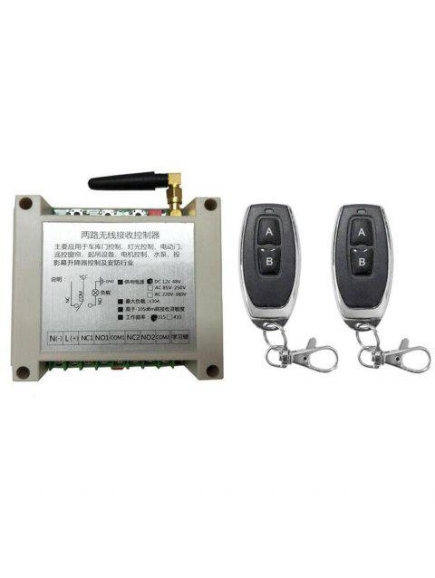 2 Channel Receiver Controller and 2 PcsWireless Remote Switch Control - BLACK