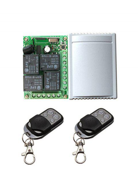 2 Pcs Wireless Remote Switch Control and Universal Relay Receiver Module - BLACK