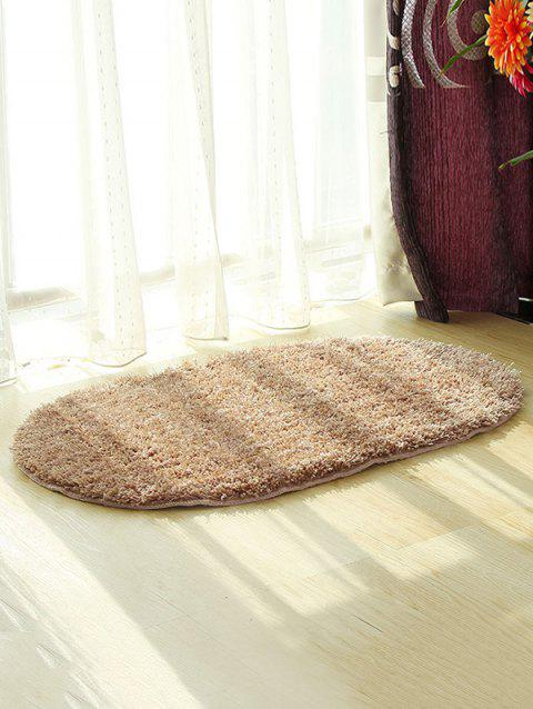 Fluffy Soft Oval Throw Rug - LIGHT BROWN