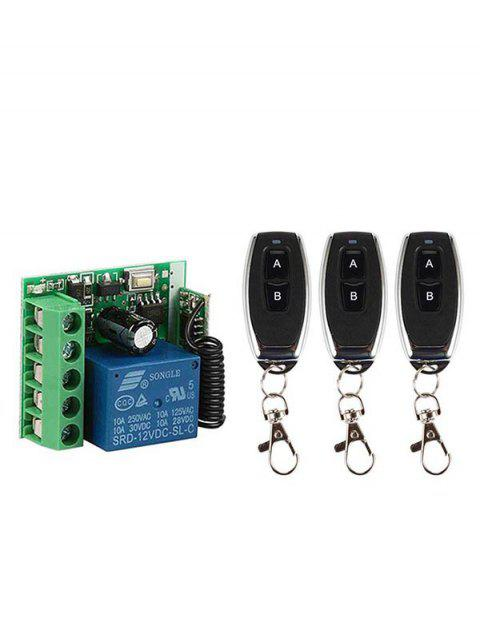 2 Pcs 433Mhz RF Remote Control and 2 Channel Receiver Module - BLACK
