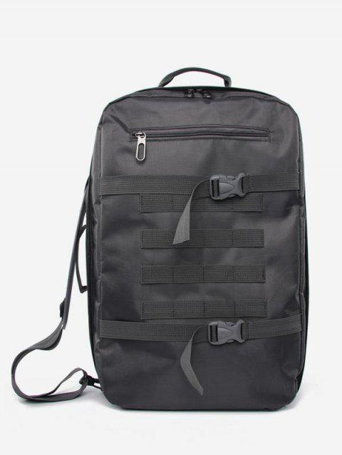 Big Capacity Nylon Simple Backpack - DARK GRAY