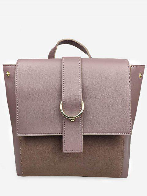Frosting Leather Cover Backpack - PINK