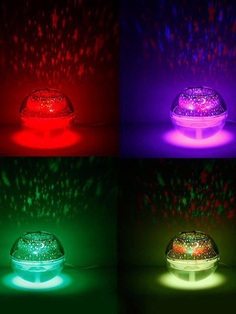 Crystal Projection Lamp Humidifier Night Colorful Light - WHITE