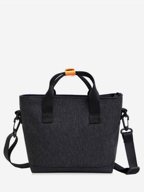 Casual Marled Pattern Crossbody Bag - BLACK
