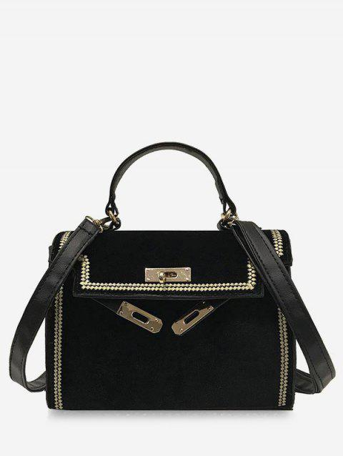 Small Vintage Single Shoulder Bag - BLACK