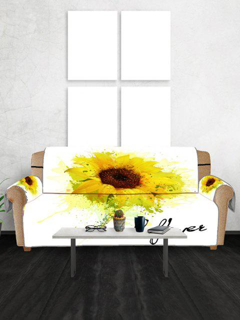 Miraculous Sunflower Print Couch Cover Short Links Chair Design For Home Short Linksinfo