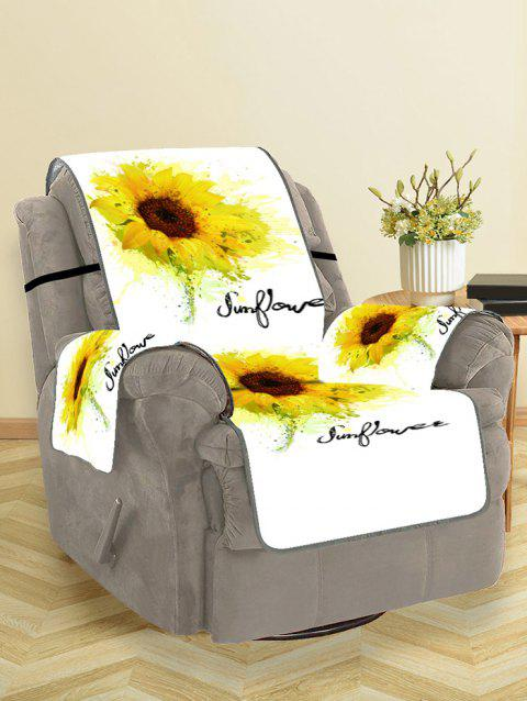 Sunflower Print Couch Cover - YELLOW SINGLE SEAT