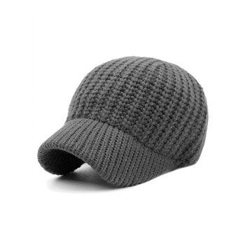 Solid Color Knitted Baseball Cap
