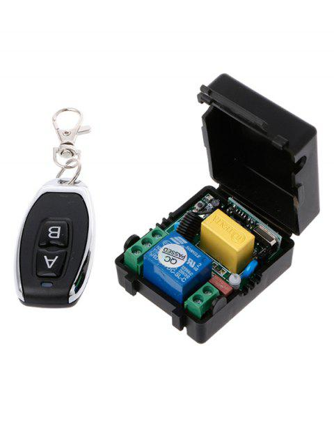 1 Channel Wireless Relay Receiver and 433 Mhz Remote Switch Control - BLACK