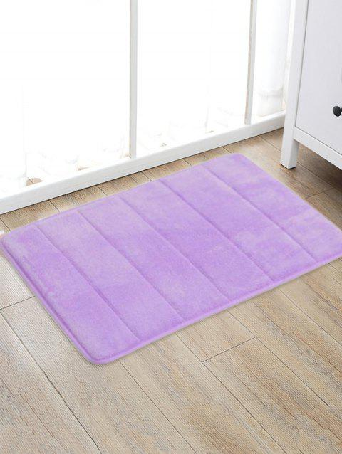 Solid Color Water Absorption Area Rug - PURPLE