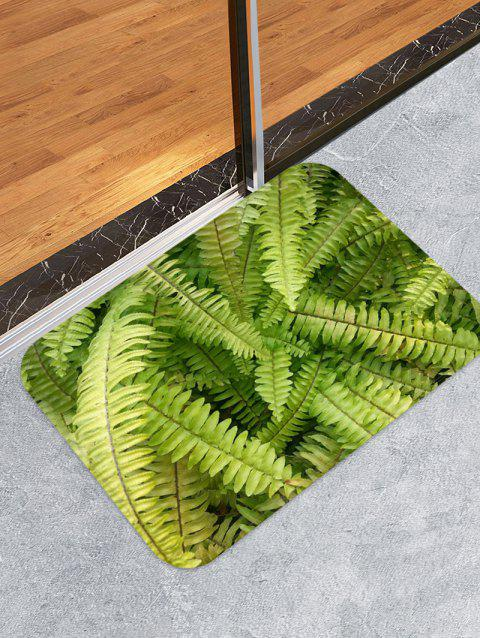 Fern Leaf Pattern Water Absorption Area Rug - FERN GREEN W16 X L24 INCH