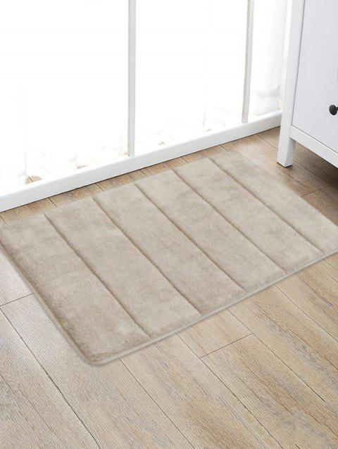 Solid Color Water Absorption Area Rug - CAMEL BROWN