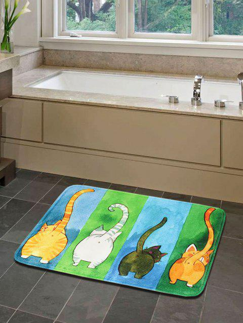 Four Cats Print Antiskid Water Absorption Area Rug - multicolor 40 X 60CM