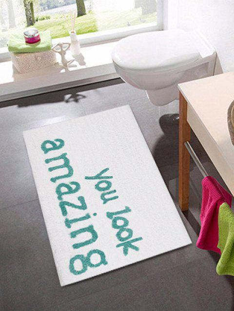 Letters Pattern Water Absorption Area Rug - multicolor A 50 X 80CM
