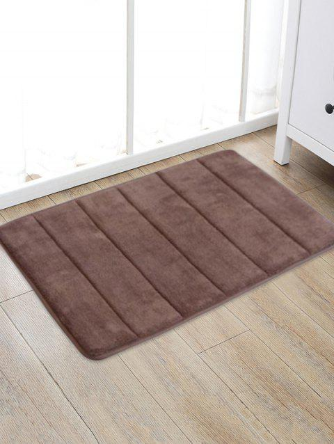 Solid Color Water Absorption Area Rug - COFFEE